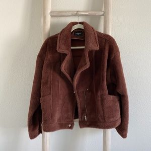 Anthropologie / FRNCH Faux Fur Jacket